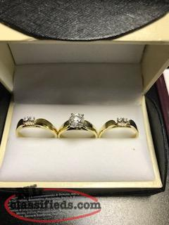 Stunning 3 Piece Wedding Band Set!!