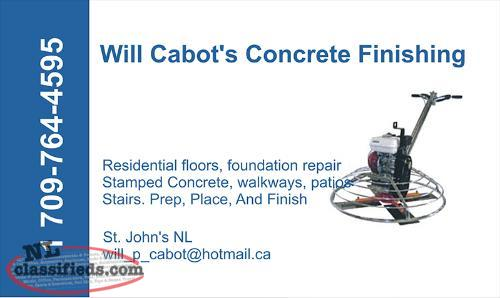 Will Cabot's Concrete Finishing