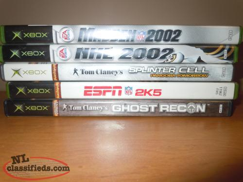 XBOX GAMES 5 TOTAL