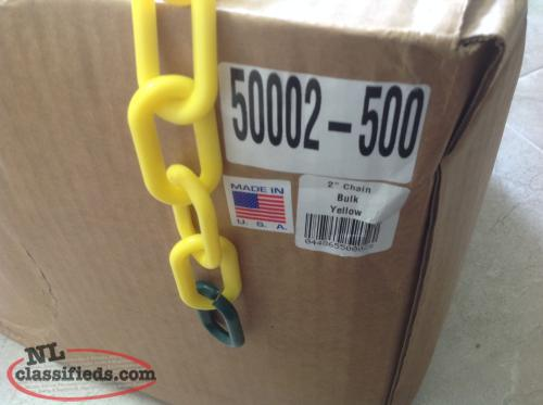"Black & Yellow 2"" Plastic Chain for sale. 50 Cents / Foot"