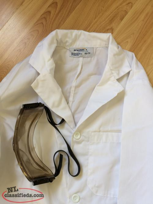 Cotton Lab Coat & Safety Goggles