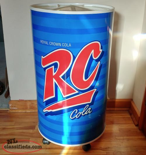 Vintage RC Cola Can Stand Up Cooler