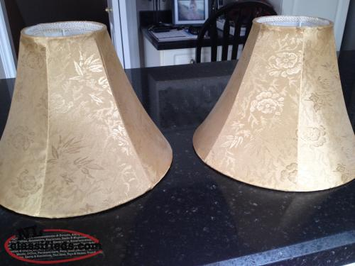 2 GOLD LAMP SHADES ~ Perfect Condition