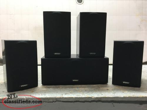 Home surround speakers and stands
