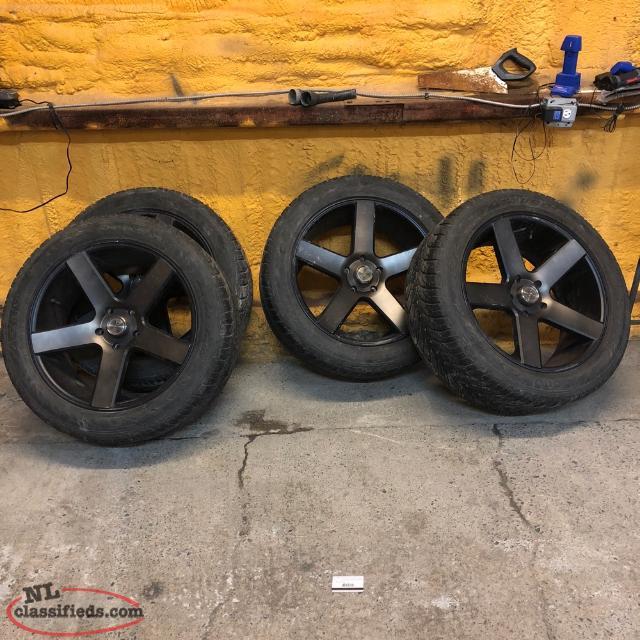 22 Inch Tires >> 22 Inch Dubs Ram Bolt Pattern Good Tires Carbonear Newfoundland
