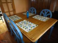 Table, Chairs, Bench, Corner Hutch and Matching Decor
