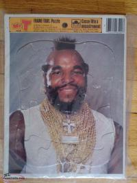 Two vintage 1984 GOLDEN - MR.T FRAME TRAY PUZZLE