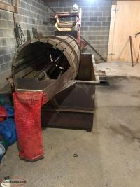 Large vegetable barrel washer & lifter