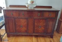 Antique Large Sideboard Buffet Hutch