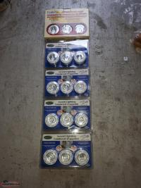 5 PACKS OF 3 COMPLETE SETS OF PUCK LIGHTING WITH TRANSFORMERS/BULBS