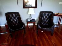 Pair of deluxe Leather Antique smoker/ reader chairs