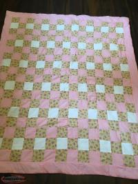 Baby Girl Quilt Set including accessories