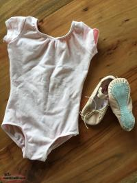Toddler Capezio Leotard & Shoes