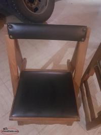 4 antique folding chairs