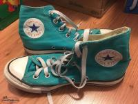 Converse canvas sneakers, high top, size 5 youth