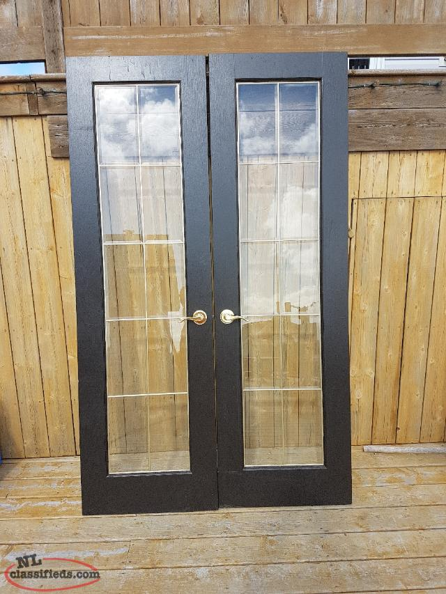 2 Beveled Glass French Doors