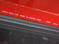 1972 coca cola tin large sign