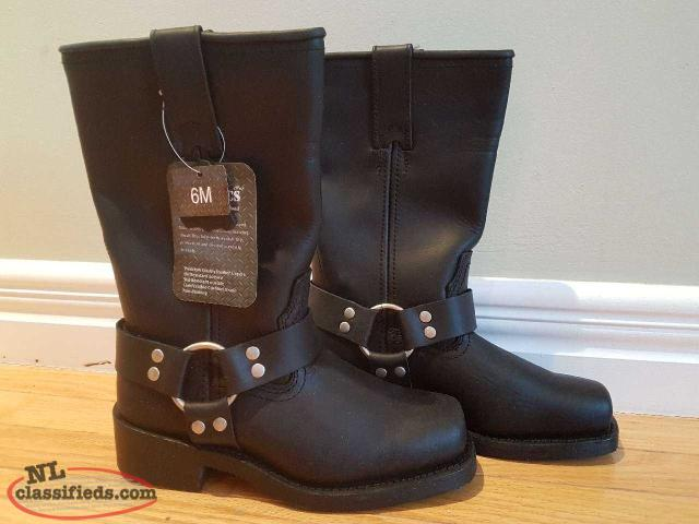 Womans Leather Motorcycle Boots