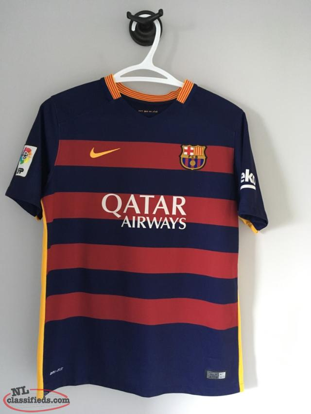 5928abaada7 Authentic Fc Barcelona Lionel Messi 2015-2016 Home Jersey - St ...