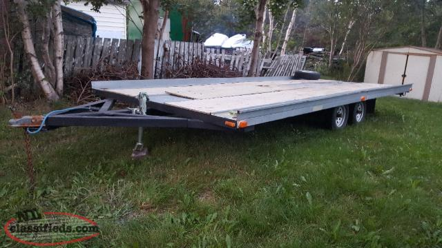 dubble axel 21 ft trailer