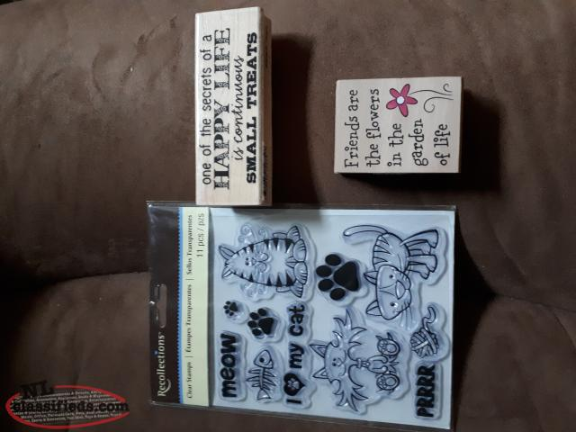Set of 3 New Rubber Stamps