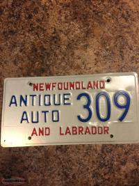 Wanted old Newfoundland licence plates