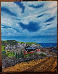 Sheave's Cove Beach oil painting