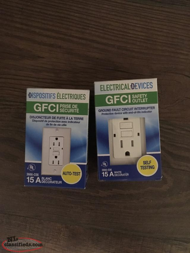 GFI Outlets, New (unopened)