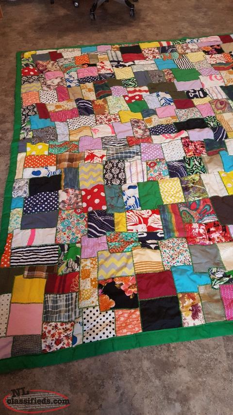 home made, hand embroidered quilts