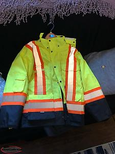 XL Hi-Vis Men's Winter Jacket For Sale