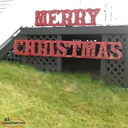Merry Christmas Sign with 100 plus lights