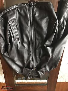 Three men's leather jackets