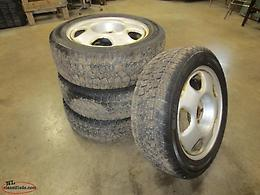 Set of snow tires.
