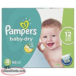 Size 4 unopened 168 Count Pampers Baby Dry