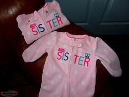 Baby Sleepers Little Sister 0-3 Months 2 Sets Never worn. PJ's