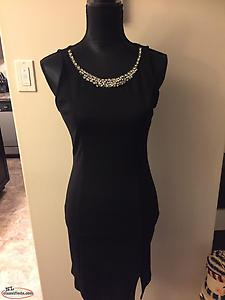 Black Holiday Rhinestone dress sz med