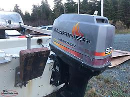 17.5 feet boat, motor and trailer