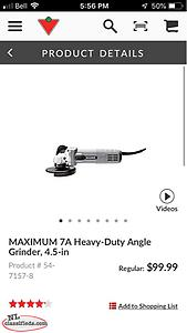 For Sale: Maximum 7A Heavy - Duty Angle Grinder, 4.5""