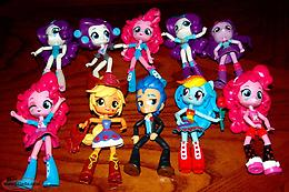My Little Pony Lot of 10 Equestria Girls Dolls MLP Minis