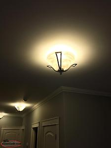 Ceiling fan, Dining Room Light And 3 Other Lights