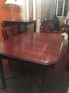 Antique Dining room Table, chairs and hutch