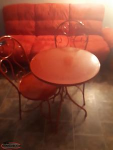 Red Table and Chair Set