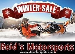 WINTER SALE! on now at Reid's Motorsports