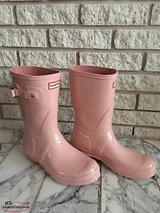 Short Pink Hunter Boots Sz. 9