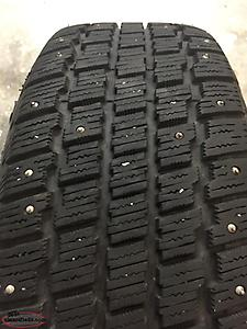 Set of 4. 205/60R16 studded winter tires