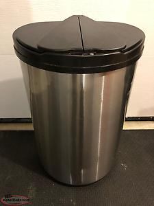 FS: Stainless Steel Garbage Can