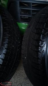 For sale set of 4 winter tires on steel rims