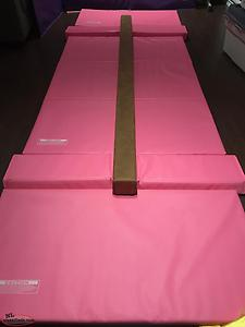Gymnastics Beam and Mat Combo (Mint Condition)