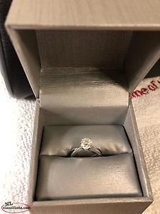 1.04 Ct Diamond Engagement Ring Plus Bands