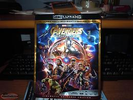 AVENGERS INFINITY WAR 4 K ULTRA HD+BLUE-RAY+DIGITAL CODE NEW